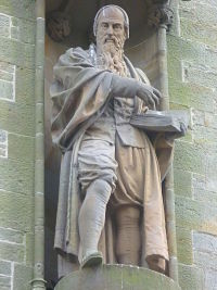 """John Knox statue, Haddington"" by Kim Traynor - Own work. Licensed under Creative Commons Attribution-Share Alike 3.0 via Wikimedia Commons - http://commons.wikimedia.org/wiki/File:John_Knox_statue,_Haddington.jpg#mediaviewer/File:John_Knox_statue,_Haddington.jpg"